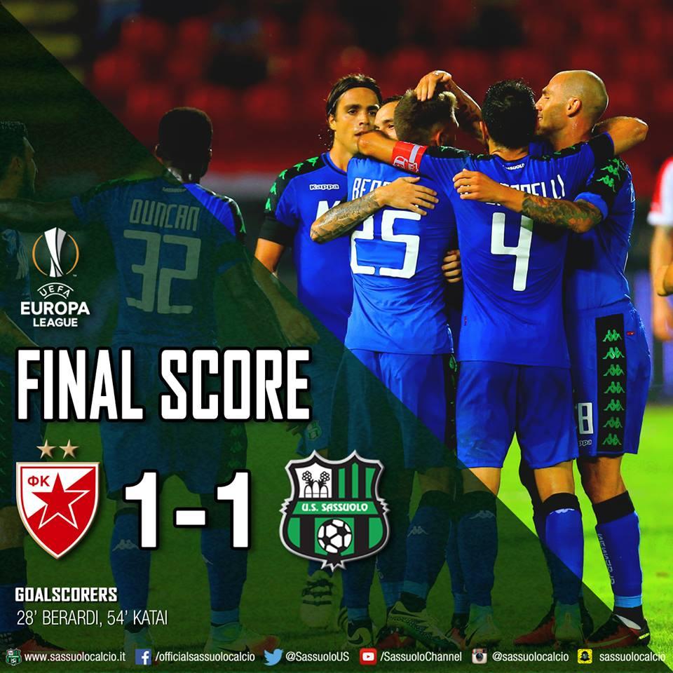 Sassuolo w fazie grupowej Ligi Europy
